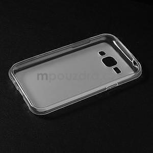 Matný gelový obal na Samsung Galaxy J1 - bílý - 5