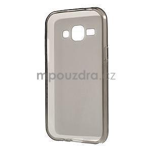 Matný gelový obal na Samsung Galaxy J1 - šedý - 5