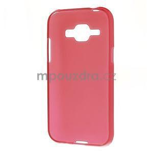 Červený matný kryt na Samsung Galaxy J1 - 5