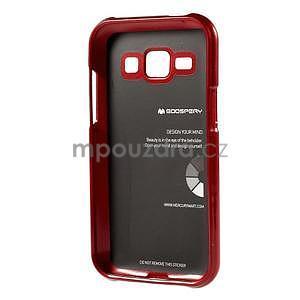 Červený gelový obal na Samsung Galaxy J1 - 5