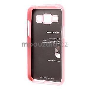 Růžový gelový obal na Samsung Galaxy J1 - 5