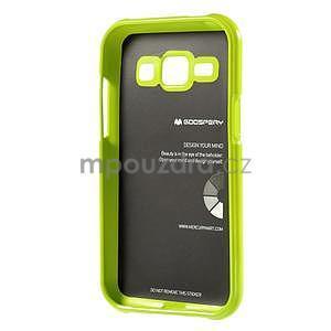 Zelený gelový obal na Samsung Galaxy J1 - 5