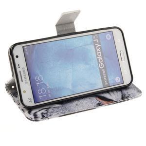 Standy peněženkové pouzdro na Samsung Galaxy J5 - tygr - 5