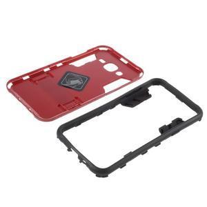 Odolný kryt 2v1 se stojánkem na Samsung Galaxy J5 - červený - 5