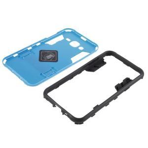 Odolný kryt 2v1 se stojánkem na Samsung Galaxy J5 - modrý - 5
