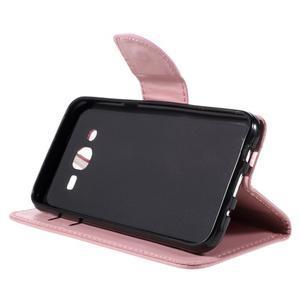 Peněženkové pouzdro na mobil Samsung Galaxy J5 - růžové - 5