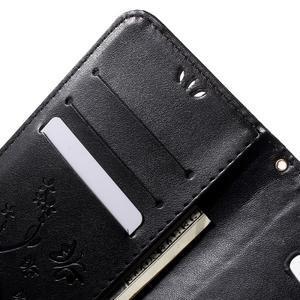Butterfly PU kožené pouzdro na Samsung Galaxy J5 - černé - 5
