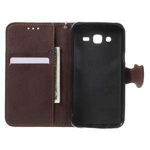 Leaf peněženkové pouzdro na Samsung Galaxy J5 - rose - 5