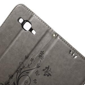 Butterfly PU kožené pouzdro na Samsung Galaxy J5 - šedé - 5