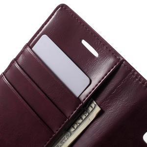 Mercury PU kožené pouzdro na mobil Samsung Galaxy J5 - vinové - 5