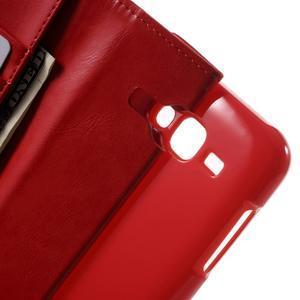 Mercury PU kožené pouzdro na mobil Samsung Galaxy J5 - červené - 5