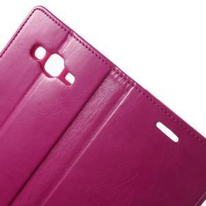 Mercury PU kožené pouzdro na mobil Samsung Galaxy J5 - rose - 5