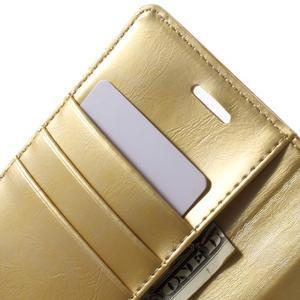 Mercury PU kožené pouzdro na mobil Samsung Galaxy J5 - zlaté - 5