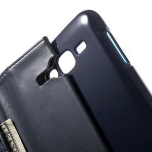 Mercury PU kožené pouzdro na mobil Samsung Galaxy J5 - tmavěmodré - 5