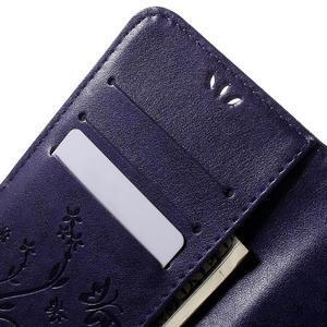 Butterfly PU kožené pouzdro na Samsung Galaxy J5 - fialové - 5