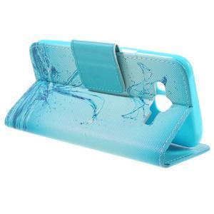 Dairy peněženkové pouzdro na Samsung Galaxy J5 - vodní květ - 5