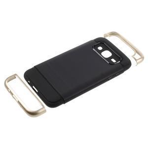 Odolný obal na mobil Samsung Galaxy J5 - zlatý - 5