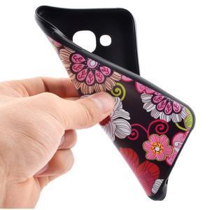 Jelly gelový obal na mobil Samsung Galaxy J5 - koláž květin - 5