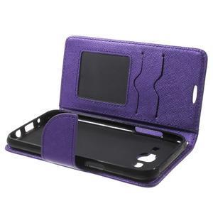 Crossy koženkové pouzdro na Samsung Galaxy J5 - fialové - 5