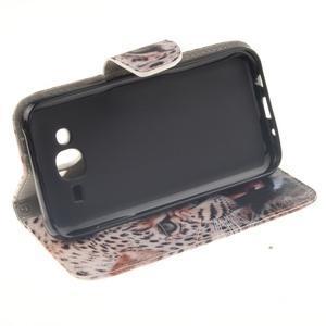 Standy peněženkové pouzdro na Samsung Galaxy J5 - leopard - 5