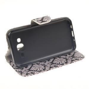 Standy peněženkové pouzdro na Samsung Galaxy J5 - retro totem - 5