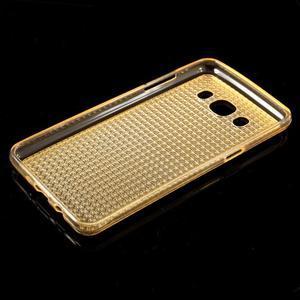 Diamonds gelový obal mobil na Samsung Galaxy J5 (2016) - zlatý - 5