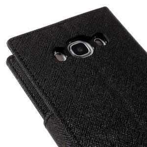 Diary PU kožené pouzdro na mobil Samsung Galaxy J5 (2016) - černé - 5