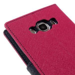 Diary PU kožené pouzdro na mobil Samsung Galaxy J5 (2016) - rose - 5