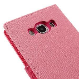 Diary PU kožené pouzdro na mobil Samsung Galaxy J5 (2016) - růžové - 5