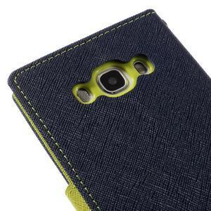 Diary PU kožené pouzdro na mobil Samsung Galaxy J5 (2016) - tmavěmodré - 5