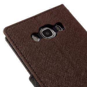 Diary PU kožené pouzdro na mobil Samsung Galaxy J5 (2016) - hnědé - 5