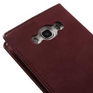 Moons PU kožené pouzdro na Samsung Galaxy J5 (2016) - vínové - 5