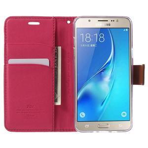 Gentle PU kožené peněženkové pouzdro na Samsung Galaxy J5 (2016) - rose - 5