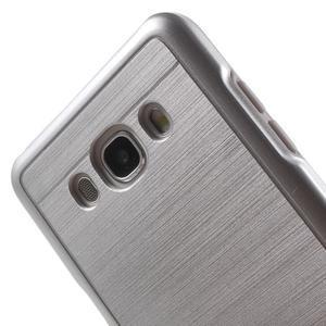 Gelový obal s plastovou výstuhou na Samsung Galaxy J5 (2016) - stříbrný - 5