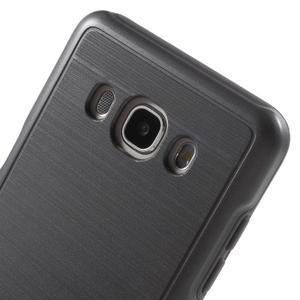 Gelový obal s plastovou výstuhou na Samsung Galaxy J5 (2016) - šedý - 5