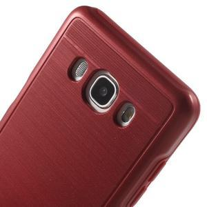 Gelový obal s plastovou výstuhou na Samsung Galaxy J5 (2016) - červený - 5