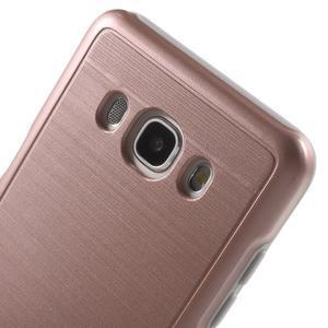 Gelový obal s plastovou výstuhou na Samsung Galaxy J5 (2016) - růžový - 5