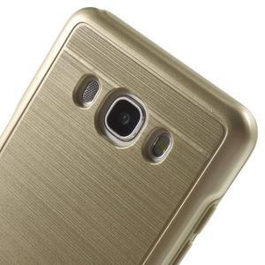 Gelový obal s plastovou výstuhou na Samsung Galaxy J5 (2016) - zlatý - 5
