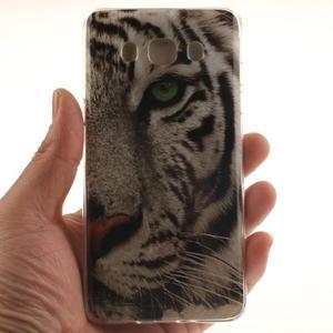 Gelový obal na mobil Samsung Galaxy J5 (2016) - bílý tygr - 5