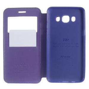 Royal pouzdro s okýnkem na Samsung Galaxy J5 (2016) - fialové - 5