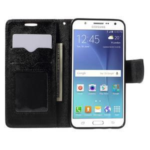 Routy PU kožené pouzdro na Samsung Galaxy J5 (2016) - černé - 5