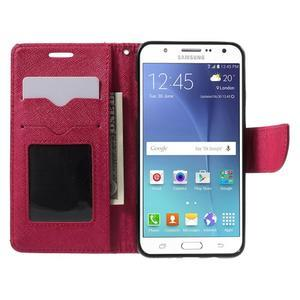 Routy PU kožené pouzdro na Samsung Galaxy J5 (2016) - červené - 5