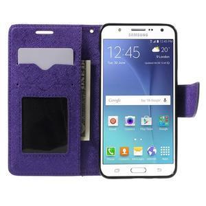 Routy PU kožené pouzdro na Samsung Galaxy J5 (2016) - fialové - 5