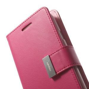 RichDiary PU kožené pouzdro na Samsung Galaxy S3 - rose - 5