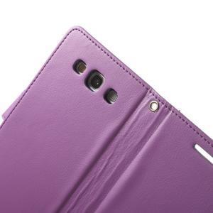 RichDiary PU kožené pouzdro na Samsung Galaxy S3 - fialové - 5