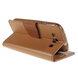 Diary PU kožené pouzdro na mobil Samsung Galaxy S3 - hnědé - 5