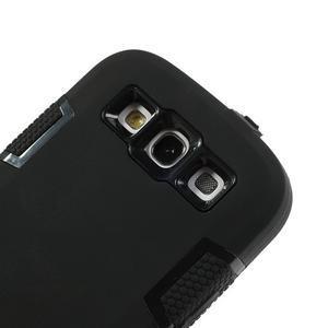Odolné silikonové pouzdro na mobil Samsung Galaxy S3 - černé - 5