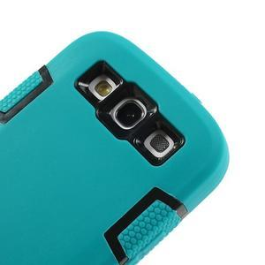 Odolné silikonové pouzdro na mobil Samsung Galaxy S3 - modré/černé - 5