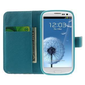 Knížečkové pouzdro na Samsung Galaxy S3 - květinky - 5