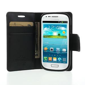 Diary PU kožené pouzdro na Samsung Galaxy S3 mini - černé - 5